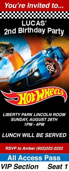 Hot Wheels Birthday Invitation Hot Wheels Digital Printable