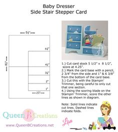 template and tutorial for baby dresser side step card ... thank-you Lisa!!