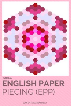 If you've never done English paper piecing or EPP this is an easy project to start with. For this I printed a few sheets of 1 inch hexagons (pdf), but if you prefer to start with larger piece…