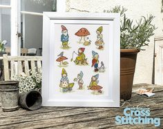 Down in the garden! A magical world of garden pixies. Enjoy our fun sampler project of these whimsical characters, from hot new design team #MonkeyBooDesigns. Only in the new issue 220 of The World of Cross Stitching magazine