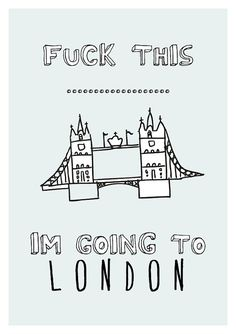 LONDON Graphic Design Print by sinansaydik on Etsy, Francesco Japanese Graphic Design, Graphic Design Print, London Illustration, London Poster, Typography Poster, London Travel, Oh The Places You'll Go, Travel Quotes, Motto