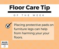 Floor care #tip: use protective pads.