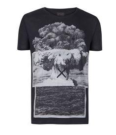 Element Slouch Crew T-shirt, Men, T-shirts, AllSaints Spitalfields $55