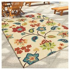 Orian Rugs Garden Chintz Promise Transitional Area Rug - Ivory, Beige, Durable