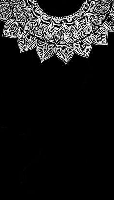 Mandalas Hd Wallpaper Android, Cute Wallpaper Backgrounds, Cellphone Wallpaper, Black Wallpaper, Screen Wallpaper, Phone Backgrounds, Mobile Wallpaper, Cute Wallpapers, Mandala Painting