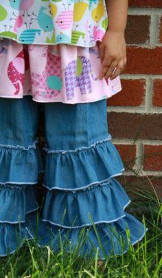 Hailey's Triple Ruffle Pants   LOVE Create Kids Couture!