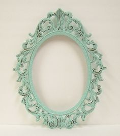 Shabby Chic Frames Mint Green Oval Picture Frame Vintage Baroque Wedding Home Decor. $48.00, via Etsy. by vladtodd