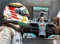 AMG Petronas Pilot: Lewis Hamilton by: kevinpaigeart.com @kevinpaigeart #LewisHamilton #MercedesGP #TeamLH #44
