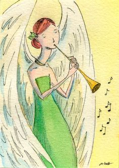 paintings by nicole wong | DAILY PAINTERS MARKETPLACE: ACEO by Nicole Wong -- Christmas Music