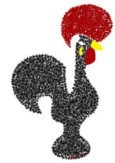 Galo à quinta Decoupage Printables, Chicken Art, Roosters, Xmas Tree, Portuguese, Education, Random, Crafts, Travel