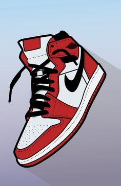The bold colors and lack of realistic shading is trying to show off the coolness of the shoe design of the sneaker. Or how uncool it is (but thats really up to you). Nike Poster, Air Jordans, Sneakers Wallpaper, Jordan Shoes Wallpaper, Sneakers Sketch, Hypebeast Wallpaper, Sneaker Art, Hype Shoes, Shoe Art