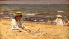 The Athenaeum - On The Beach, Lake Erie (Charles Courtney Curran - No dates listed)