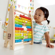 Rainbow Bead Abacus by Hape | Play Kids, www.playkidsstore.com