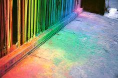 spilled rainbow paint