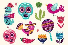Vector set of Mexican illustrations - Illustrations