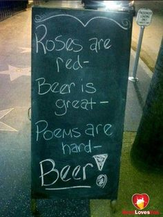 A poem for my love. #beerlovesyou