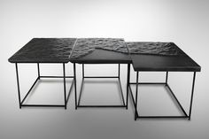 Mer Noire – Cliff Edition is a minimal furniture collection created by Brussels-based designer Damien Gernay.