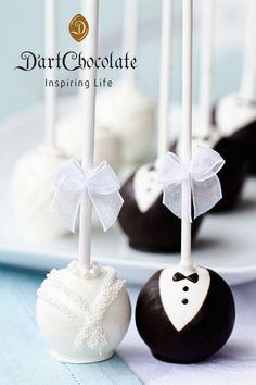Wedding Chocolate Lollipop - Cây kẹo sô-cô-la hình cô dâu, chú rể