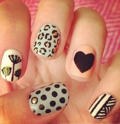 Each nail has a different pattern. I love!