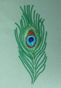 Krishna Pictures, Peacock Feathers, Some Ideas, Metallic Thread, One Color, Machine Embroidery Designs, Original Paintings, Birds, Cook