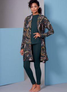 V1852 | Misses' and Misses' Petite Wrap Robe, Belt, Top, Dress and Pants | Vogue Patterns