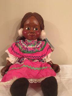 Hand Carved Wood 17 Inches eskimo Doll Bears Dolls & Bears Nabor Kid Doll Maxine