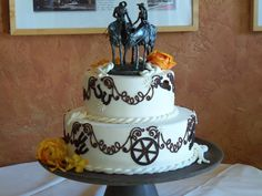 Wedding cake for a ranch or western themed wedding