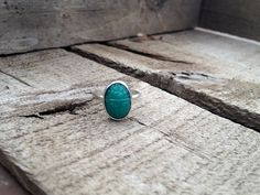 Vintage Green Chrysoprase Egyptian Scarab Beetle Sterling Silver Ring by GildedBug, $26.00 USD