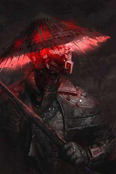 Reborn by Emilis Emka Sci-fi samurai Ninja Kunst, Arte Ninja, Ninja Art, Art And Illustration, Cyberpunk Kunst, Computer Kunst, Ps Wallpaper, Samurai Wallpaper, Samurai Artwork