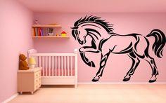 Wall Vinyl Sticker Decals Mural Room Design Pattern Art Horse Animal Nature Unicorn 244 by StickerLoveDecal on Etsy