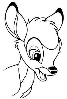 Discover this amazing coloring page of Bambi Disney Movie. Here a beautiful portrait of Bambi. A drawing for all Disney lover. Disney Drawings Sketches, Cartoon Drawings, Animal Drawings, Easy Drawings, Drawing Sketches, Drawing Disney, Disney Character Drawings, Cartoon Illustrations, Cartoon Art