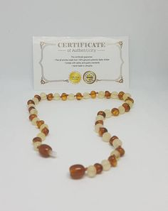 Raw Lemon//Polished Caramel Baltic Amber Natural Pain Reliever and Stylish Gift for Baby Girls /& Boys~5.5 Amber Teething Bracelet by Amber Honey/_Baltic Gold ~14cm