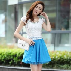 Fashion Brand Women Summer Dress Crochet Embroidered Patchwork Girl Pleated Chiffon Lace Party Club Dresses With Necklace,  http://www.aliexpress.com/store/product/2014-Fashion-Brand-Women-Summer-Dress-Crochet-Embroidered-Patchwork-Girl-Pleated-Chiffon-Lace-Party-Club-Dresses/1381800_32218077037.html