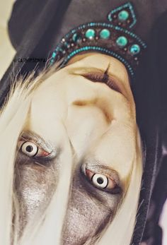 These crazy lenses are more than perfect for crazy cosplay costumes. They are surrounded by black outer ring whereas the pupil hole is kept transparent to ensure clear vision.  Geo crazy SPF white Mansion lenses send chills down the spine & are enough to complete your freaking creepy cosplay. Buy them here: http://www.uniqso.com/crazy-halloween-anime-lenses/white-crazy-lenses/geo-sf16?tracking=54665aa9ce96a