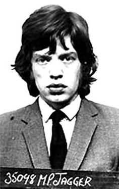 This Jagger mug shot comes from a 1967 drug raid on Richards' house, which resulted in the singer spending a few nights in jail before making bail. We'll see more of the Stones later on this list.