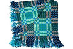 welsh blankets | Blue & Green Welsh Blanket | My 'One Kings Lane' 30-Day Challenge