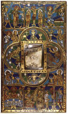 Stavelot Portable Altar (view of the top) c. 1160 Champlevé enamel, depth 17 cm Musées Royaux d'art et d'histoire, Brussels