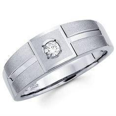 white gold mens wedding rings