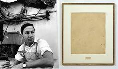 Rauschenberg self-portrait and Erased de Kooning drawing, 1953 (San Francisco Museum of Modern Art)