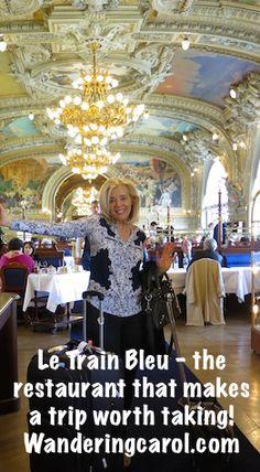 If you're doing a train trip through Europe, don't miss Le Train Bleu Restaurant at Gare de Lyon, Paris. http://wanderingcarol.com/paris-to-barcelona-train-gare-lyon/