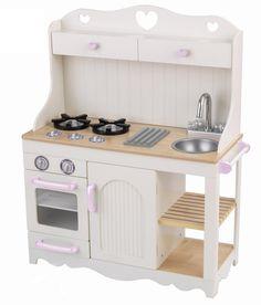 Le Toy Van Große Küche Die Küche Ganz In Hellblau Hat Eine Spüle, Zwei  Herdplatten Mit Beweglichen Schaltknöpfen Und Einen Unterschrank Mit Drei  Bu2026 ...