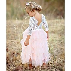 Little Girls Ceremonies Dress Baby Children's Clothing Tutu Kids Party Dress for Girl Clothes Wedding Gown Vestidos Robe Fille 3 4 5 6 7 8 Years. Pink Flower Girl Dresses, Tulle Flower Girl, Baby Flower, Robe Fuchsia, Robes Tutu, Girls Dresses Online, Vestidos Vintage, Tulle Dress, Dress Red