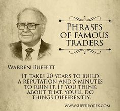 Phrases of famous traders #SuperForex #Forex #Trader #Trade #Buffet #Phrases