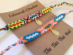 Set of 2/Skinny Friendship bracelet by IslandChula on Etsy