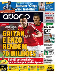 SPORTS And More: #Benfica sold Enzo Perez to #Valencia #Gaitan to #...