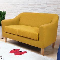 H&D 麗安卓亮彩日式獨立筒雙人布質沙發-三色可選(SH1/S632)專人送到府/簡易組裝