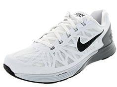 Nike Men's Lunarglide 6 White/Black/Pr Platinum/Cl Gry Running Shoe 9.5