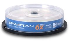 Spartan 25 GB 6x BD-R Blu-ray Single Layer Blank Media Discs with Non-branded Silver Lacquer Top (10-Pack) by Spartan. $10.95. Record an outstanding 25GB of data on a single-sided disc. That's enough for up to 5 standard DVDs on one disc. Imagine 23 hours of standard definition television, tens of thousands of music recordings. Today's ever-complex world demands the highest possible media capacity to deliver higher definition picture and sound quality. With unbeatable ...