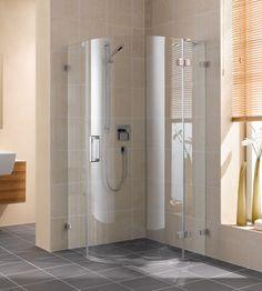 faltbare echtglas dusche mit edelstahl beschl gen nach ma bad pinterest schmal b der und. Black Bedroom Furniture Sets. Home Design Ideas