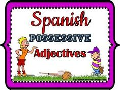 Make learning Spanish possessive adjectives easy with this lively and colorful powerpoint!  Pictures are used to solidify the meaning of the possessive adjectives before the grammar is even introduced.  Next, oral classroom practice follows after each grammatical point is presented:  basic possessive adjectives, the plural forms, and lastly, the masculine and feminine forms.
